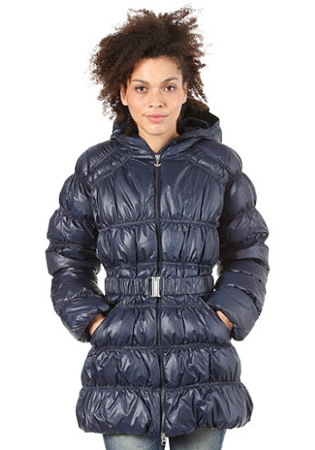 Womens Long Down Jacket dark navy