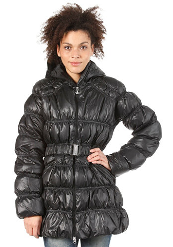 Womens Long Down Jacket black