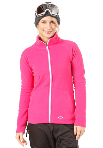 Womens Fit Fleece Jacket fuchsia