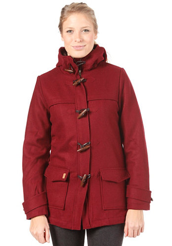 Womens Barton Duffle Coat burgundy