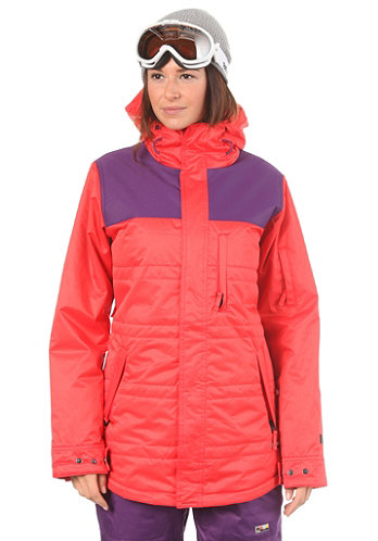 Womens Perfect Kiss Jacket coral/purple twill