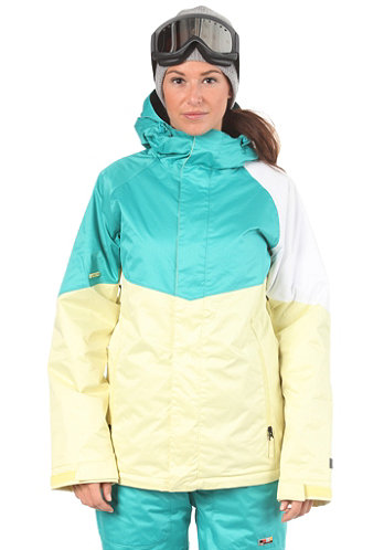 Womens Limelight Jacket lemonade/turquoise/white