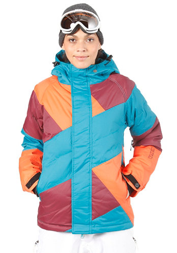 Womens Manaslu Jacket ocean depths/volcanic red/nasturtium