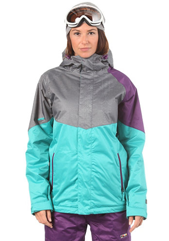 Womens Limelight Jacket turquoise/grey xerox