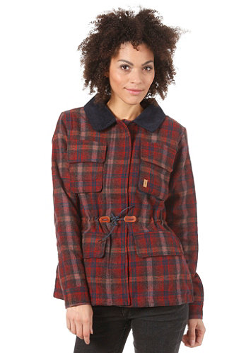 Womens Nahla Jacket red plaid