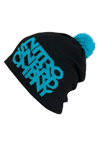 Womens Womans Link Hat Beanie black/turquoise