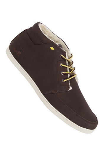 Eavis Fur dark brown/ yellow