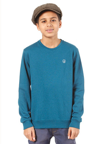 Kids Icon Crew Fleece Sweat tidal blue