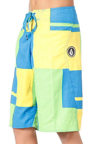 Kids V2S Maguro Block Boardshort yellow flash
