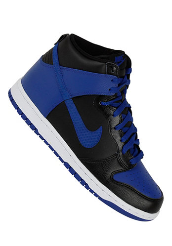 Dunk High black/old royal-white