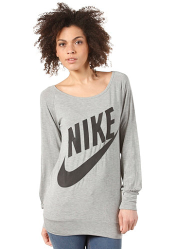 Sportswear Ls Top dk grey heather/black