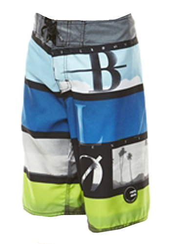 Kids Frequency Scallop Boardshort black