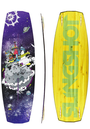 Shredtown Wakeboard 2013 135cm purple/yellow