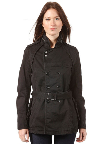 Womens Rovic Trench Jacket black
