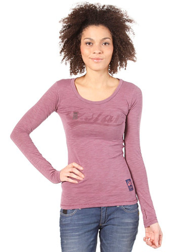 Womens Stage L/S T-Shirt black currant