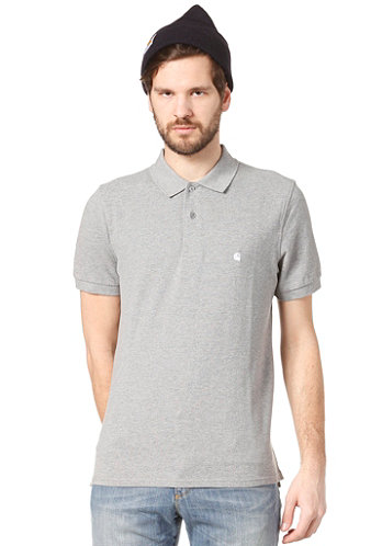 Slim Fit S/S Polo Shirt grey heather/white
