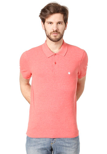 Slim Fit S/S Polo Shirt mars heather/white