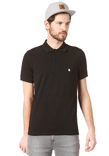Slim Fit S/S Polo Shirt black/white