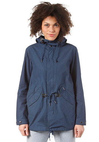 Womens   Clash Parka Cotton Twill Phantom federal