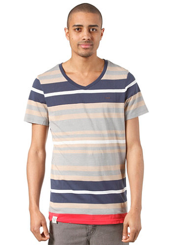 Alley S S T Shirt ginger stripes