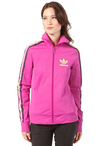 Womens Europa Multi Track Top Jacket vivid pink