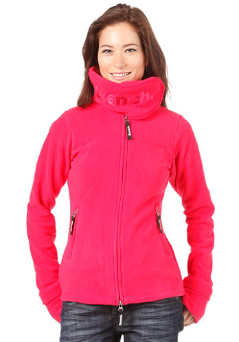 Womens Funnel Neck Fleece rose red