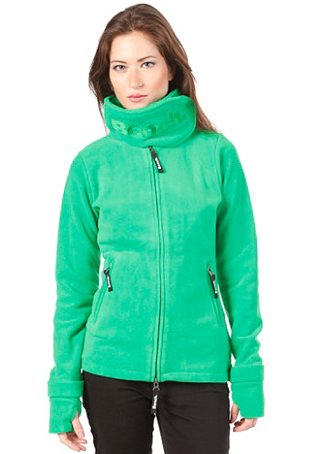 Womens Funnel Neck Fleece jelly bean