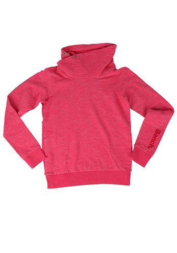 Kids Slouchey Neck Sweat Shirt rose red