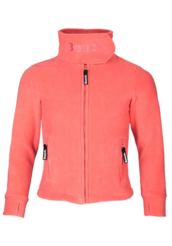 Kids Funnel Neck Zip Fleece capri georgian peach