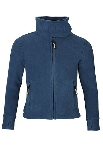 Kids Funnel Neck Zip Fleece capri dark denim