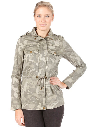 Womens Rider Printed Jacket ivy green