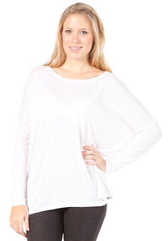 Womens Emerald L/S Oversize Top optical snow