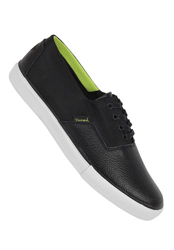 Diamond Cuts Shoe black lime canvas
