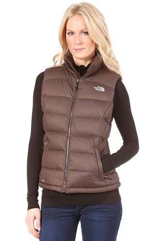Womens Nuptse 2 Vest bittersweet brown