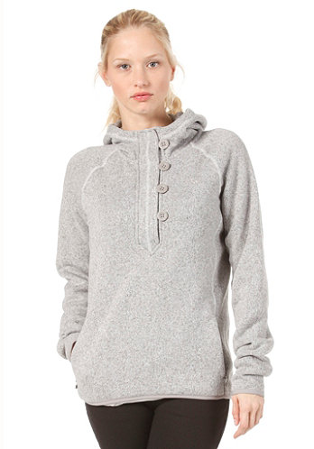 Womens Crescent Sunshine Hooded Sweat vaporous grey