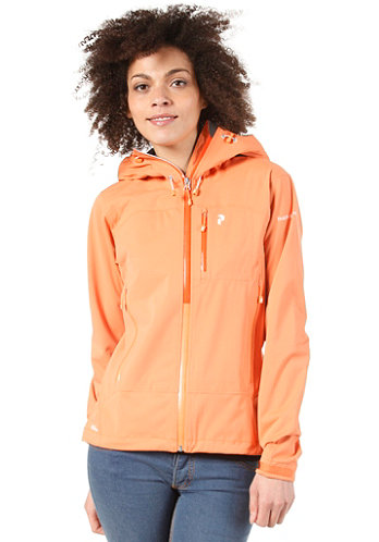 Womens Refuge Jacket lt sparky orange