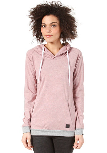 Womens Hilgi Hooded Sweat grey-red