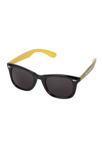 Check Stripe Sunglasses black/yellow check