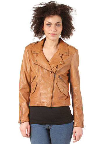 Womens Jodie Leather Jacket cognac