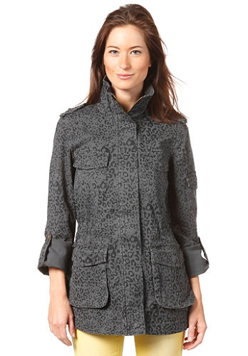 Womens Falda Print Jacket dark grey melange