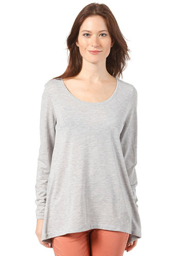Womens Anlio L/S T-Shirt light grey melange