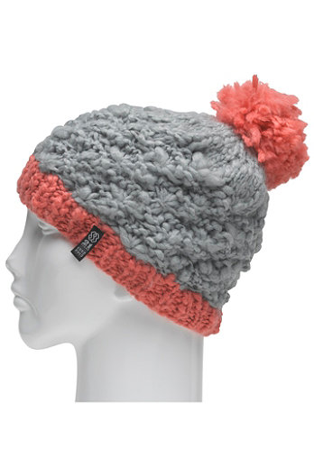 Womens Pom Pom Beanie smoked out