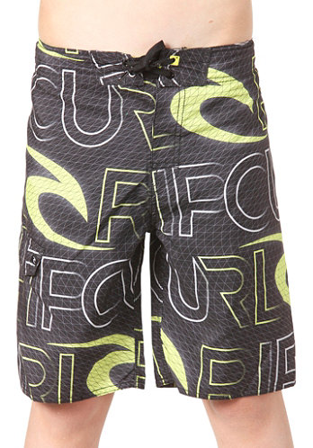 Kids Realm 18 Boardshort black/lime