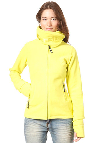 Womens Funnel Neck Fleece sulphur spring