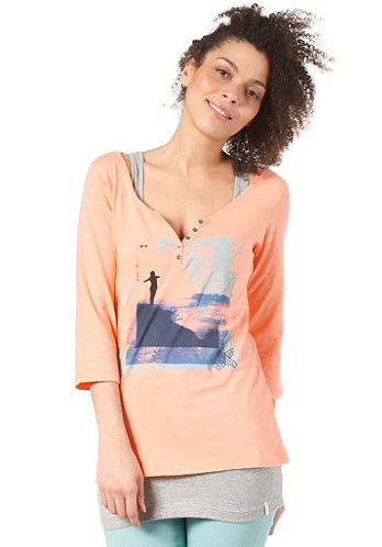 Womens Luna L/S T-Shirt neon peach
