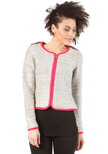 Womens Salt Knit Cardigan light grey melange