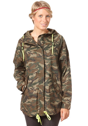Womens Maki Army Jacket ivy green