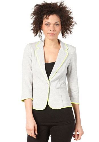 Womens Anneli 3/4 Sleeve Blazer light grey melange