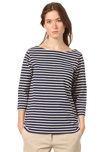 Womens Edie L/S T-Shirt blue stripe