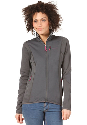 Womens Piton Hybrid Sweat Jacket forge grey